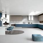 Cocina diseño color azul