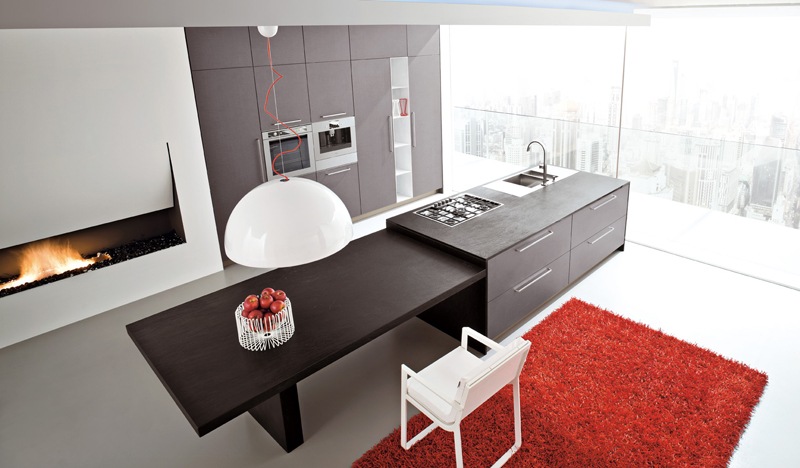 Brera Design - Cocina moderna con isla
