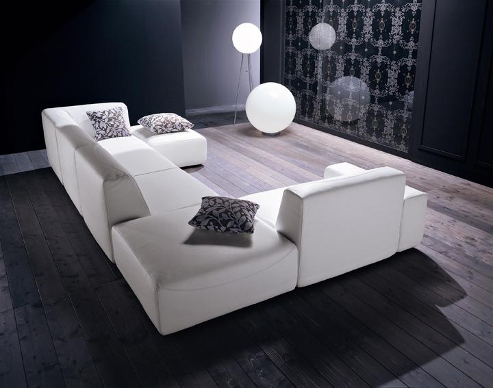 sofa blanco de diseo brera design - Sofas De Diseo